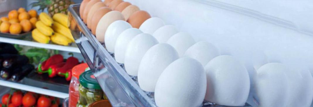 حفظ البيض في الثلاجة